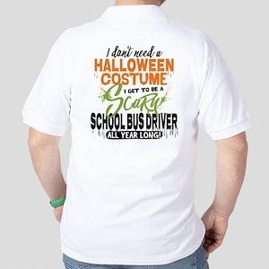 School Bus Driver Halloween Golf Shirt