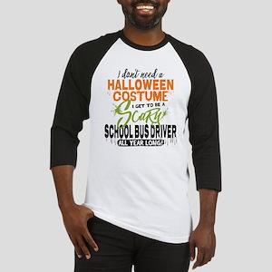 School Bus Driver Halloween Baseball Jersey