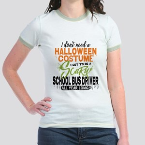 School Bus Driver Halloween Jr. Ringer T-Shirt