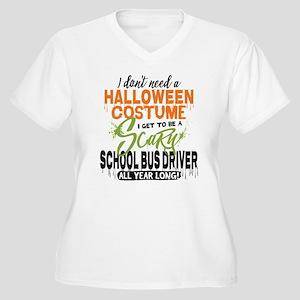 School Bus Driver Women's Plus Size V-Neck T-Shirt