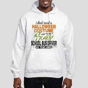 School Bus Driver Halloween Hooded Sweatshirt