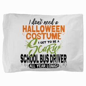 School Bus Driver Halloween Pillow Sham