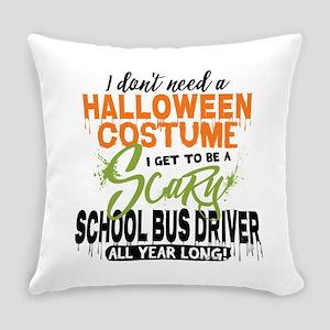 School Bus Driver Halloween Everyday Pillow