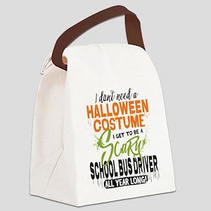School Bus Driver Halloween Canvas Lunch Bag