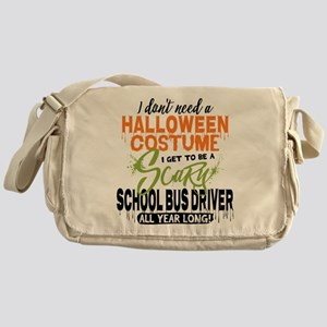 School Bus Driver Halloween Messenger Bag