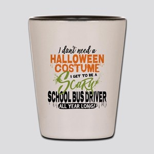School Bus Driver Halloween Shot Glass