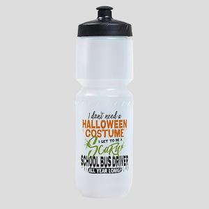 School Bus Driver Halloween Sports Bottle