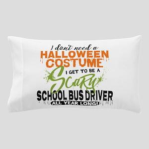 School Bus Driver Halloween Pillow Case