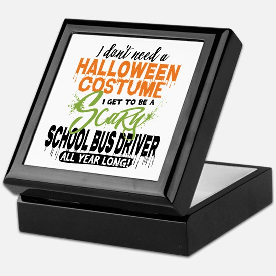 School Bus Driver Halloween Keepsake Box