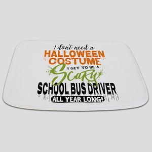 School Bus Driver Halloween Bathmat