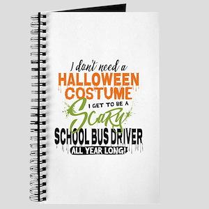 School Bus Driver Halloween Journal