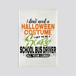 School Bus Driver Halloween Rectangle Magnet