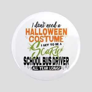 School Bus Driver Halloween Button