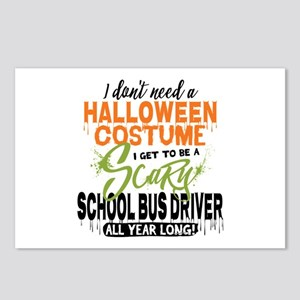 School Bus Driver Hallowe Postcards (Package of 8)