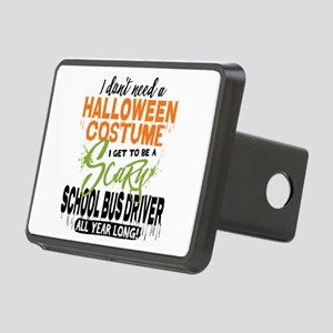 School Bus Driver Hallowee Rectangular Hitch Cover