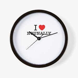 I Love NOUNALLY Wall Clock
