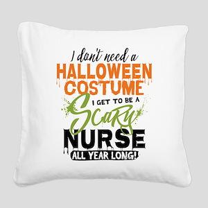 Nurse Halloween Square Canvas Pillow
