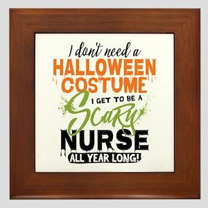 Nurse Halloween Framed Tile