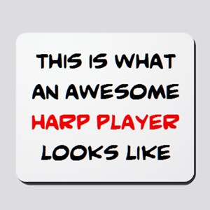 awesome harp player Mousepad