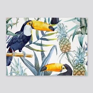 Tropical Toucan 5'x7'Area Rug