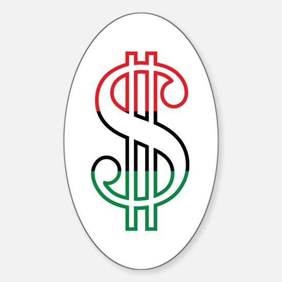 Red, Black and Green Dollar Sign Decal