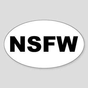 NSFW Oval Sticker
