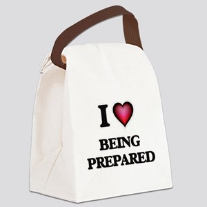 I Love Being Prepared Canvas Lunch Bag