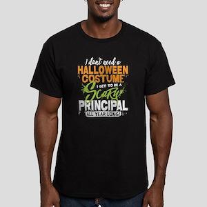 Principal Halloween Men's Fitted T-Shirt (dark)