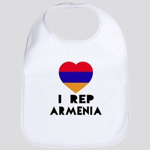 I Rep Armenia Country Cotton Baby Bib