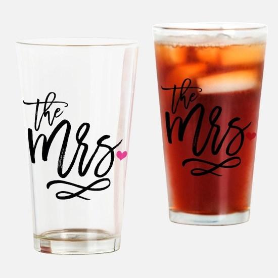 Unique New bride Drinking Glass