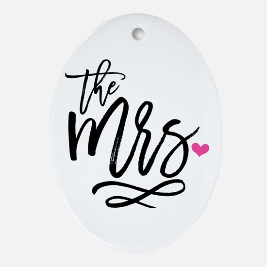 Cute Wife Oval Ornament