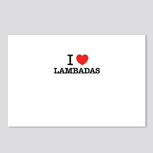 I Love LAMBADAS Postcards (Package of 8)