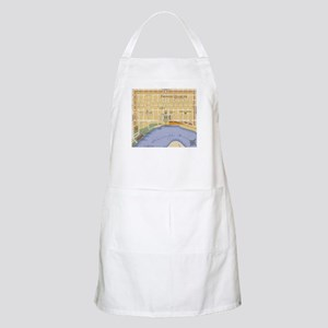 French Quarter Map BBQ Apron