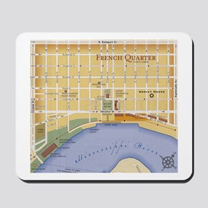 French Quarter Map Mousepad