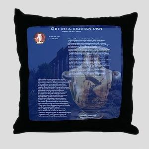 Ode on a Grecian Urn Throw Pillow