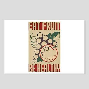 Eat Fruit Postcards (Package of 8)