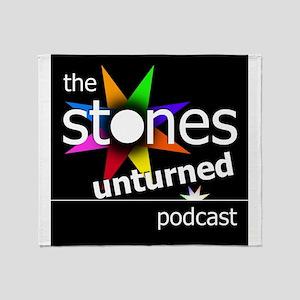 Stones Unturned Podcast Logo Throw Blanket