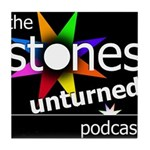 Stones Unturned Podcast Logo Tile Coaster