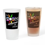 Stones Unturned Podcast Logo Drinking Glass