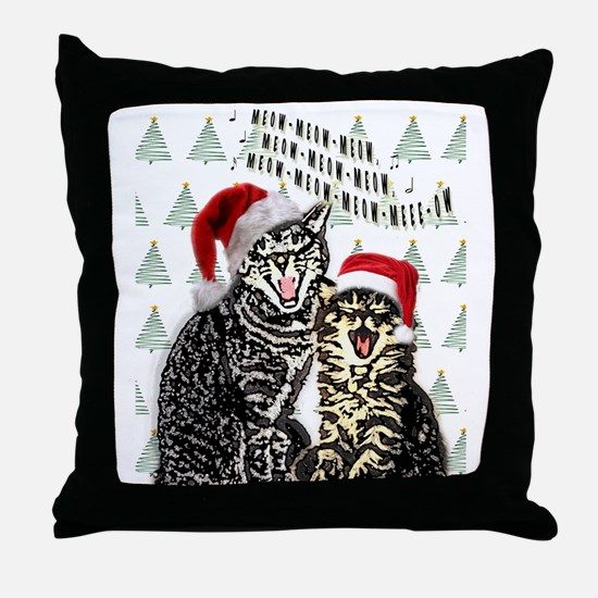 Jingle cats Throw Pillow