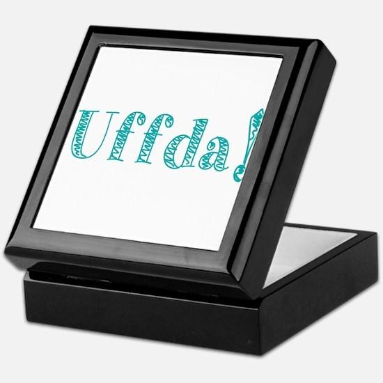 Uffda Turquoise Text Keepsake Box