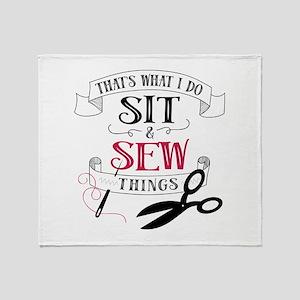 Sew Things Throw Blanket