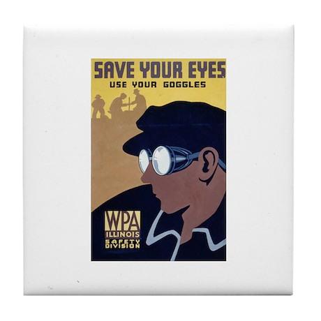 Use Goggles Tile Coaster
