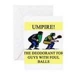 umpire t-shirts presents Greeting Cards (Pk of 20)