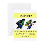 umpire t-shirts presents Greeting Card