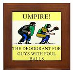 umpire t-shirts presents Framed Tile