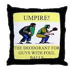 umpire t-shirts presents Throw Pillow