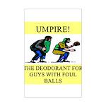 umpire t-shirts presents Mini Poster Print