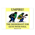 umpire t-shirts presents Postcards (Package of 8)