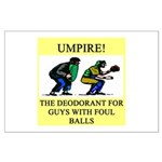 umpire t-shirts presents Large Poster